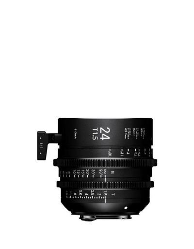 Sigma 24mm T1.5 Cine Lens Fully Luminous Feet for Canon EF Mount