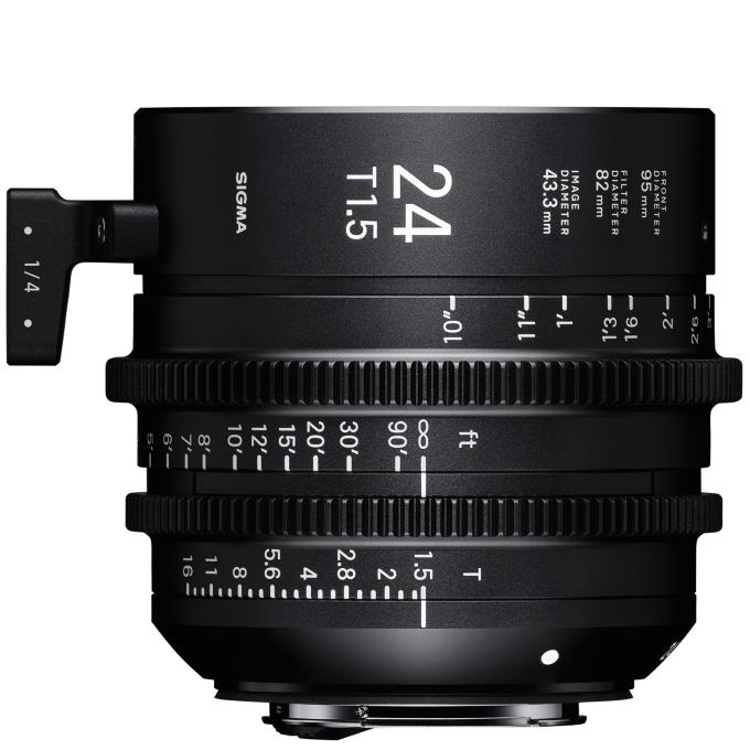 Sigma 24mm T1.5 Cine Lens for PL Mount