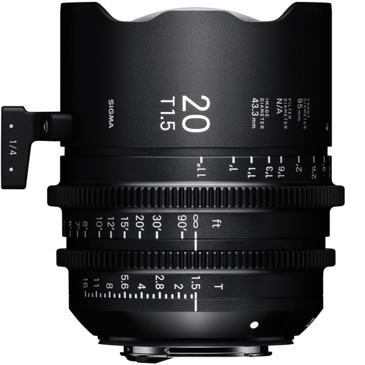 Sigma 20mm T1.5 Cine Lens for PL Mount