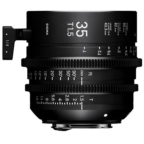 Sigma 5 Cine Lens Kit 20 / 24 / 35 / 50 / 85mm T1.5 Canon EF Mount with Case