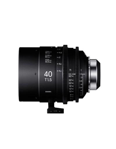 Sigma 40mm T1.5 Cine Lens for PL Mount /i-Technology