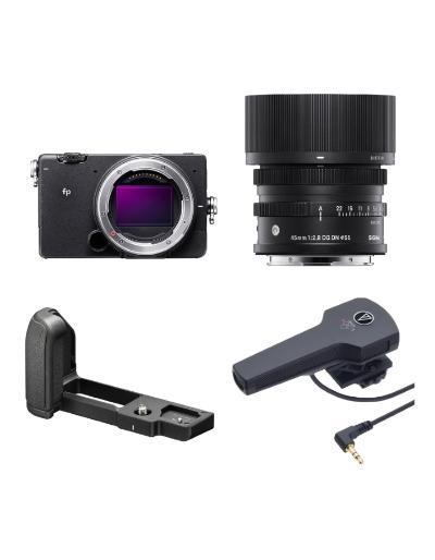 Sigma FP Digital Camera + 45/2.8 DG DN + FP HG21 Grip + Audio Technica Shotgun Mic