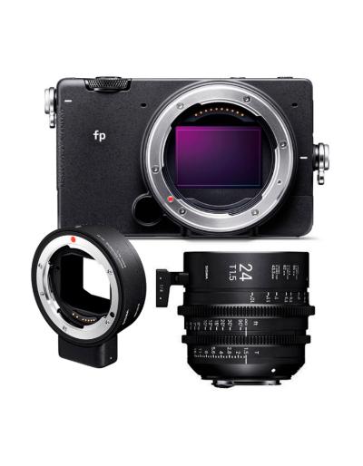 SIGMA FP DIGITAL CAMERA + SIGMA 24mm T1.5 Cine Lens for EF Mount + MC-21 Adap EF-L